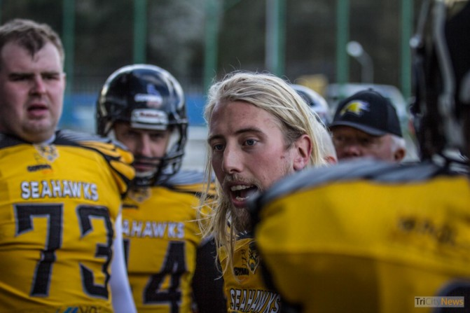 Seahawks Gdynia- Wroclaw Outlaws stock photo Jakub Woźniak Tricity News-11