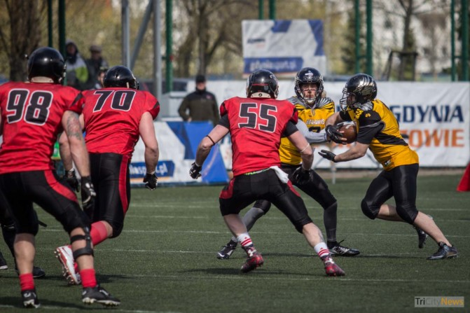 Seahawks Gdynia- Wroclaw Outlaws stock photo Jakub Woźniak Tricity News-13