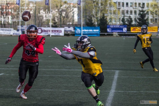 Seahawks Gdynia- Wroclaw Outlaws stock photo Jakub Woźniak Tricity News-15