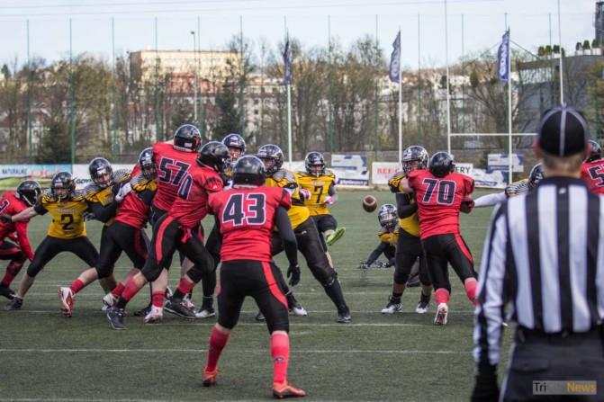 Seahawks Gdynia- Wroclaw Outlaws stock photo Jakub Woźniak Tricity News-16