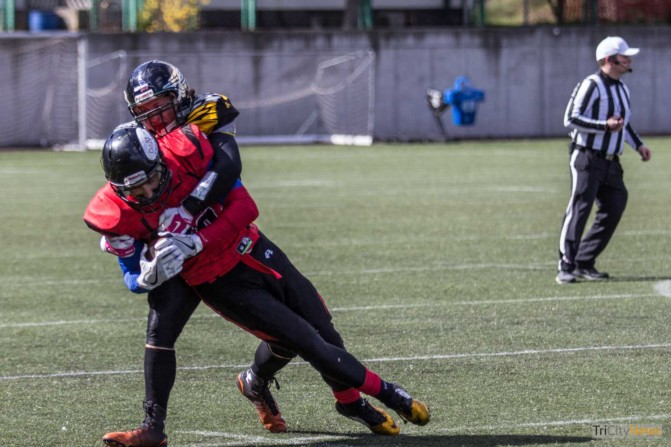 Seahawks Gdynia- Wroclaw Outlaws stock photo Jakub Woźniak Tricity News-17