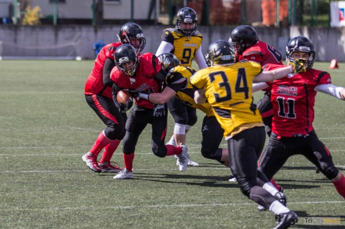 Seahawks Gdynia- Wroclaw Outlaws stock photo Jakub Woźniak Tricity News-19