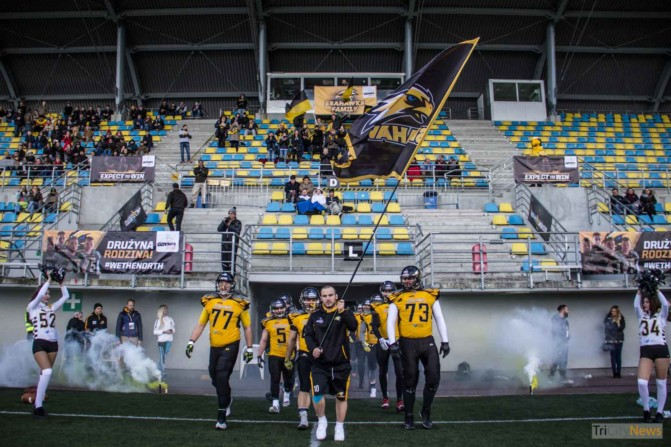 Seahawks Gdynia- Wroclaw Outlaws stock photo Jakub Woźniak Tricity News-2