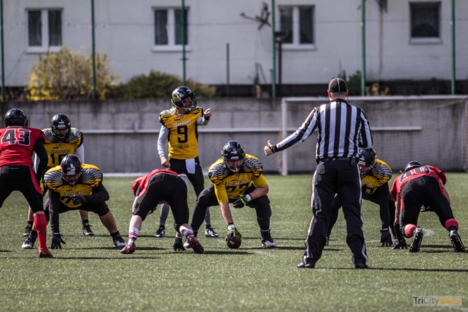 Seahawks Gdynia- Wroclaw Outlaws stock photo Jakub Woźniak Tricity News-21