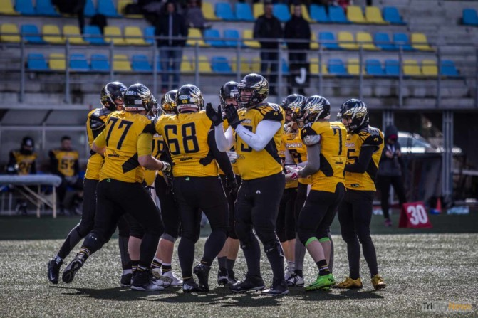 Seahawks Gdynia- Wroclaw Outlaws stock photo Jakub Woźniak Tricity News-22