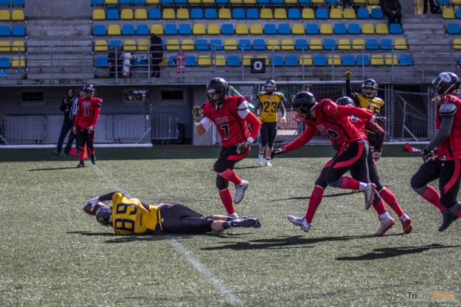 Seahawks Gdynia- Wroclaw Outlaws stock photo Jakub Woźniak Tricity News-23