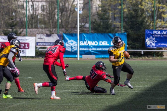 Seahawks Gdynia- Wroclaw Outlaws stock photo Jakub Woźniak Tricity News-6