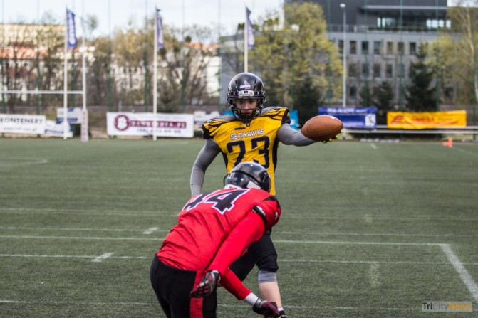 Seahawks Gdynia- Wroclaw Outlaws stock photo Jakub Woźniak Tricity News-9