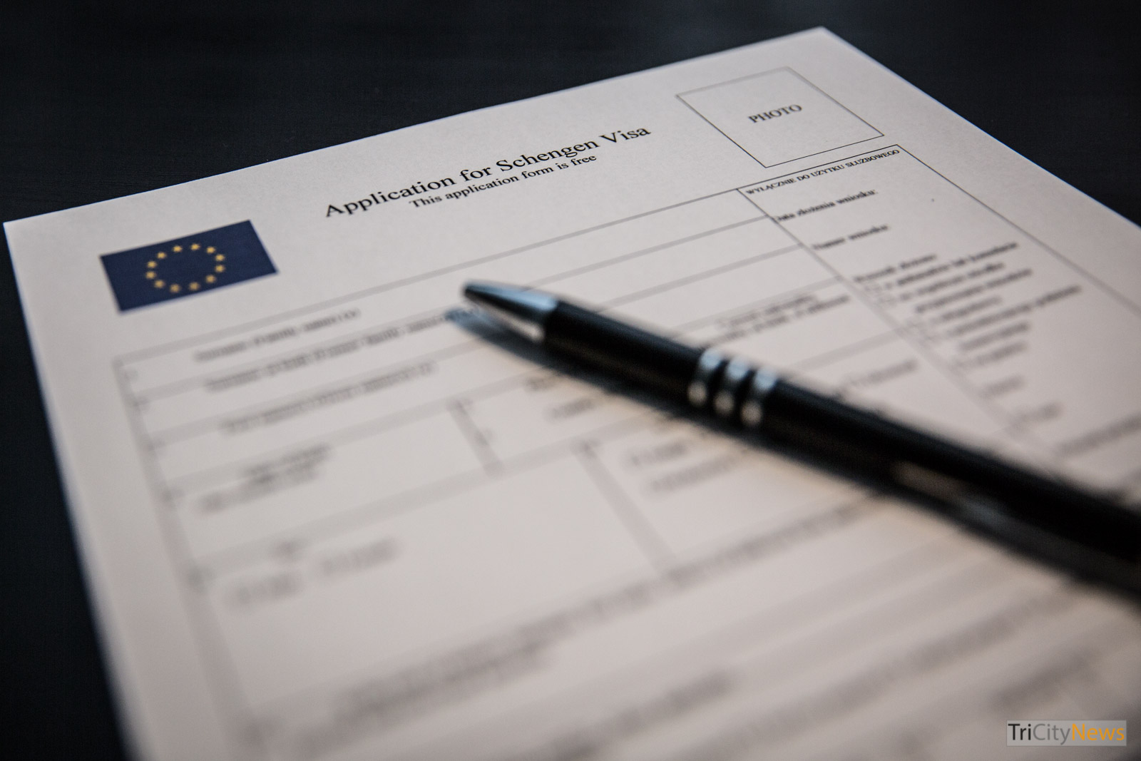 Visa Application Form, Photo: Jakub Woźniak/Tricity News