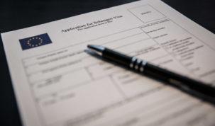 Visa Application Form, Photo: Jakub Woźniak/Tricity News