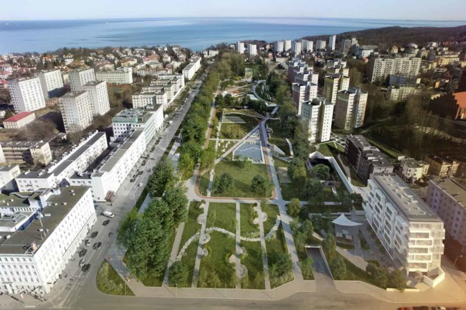 Central Park in Gdynia visualization-1