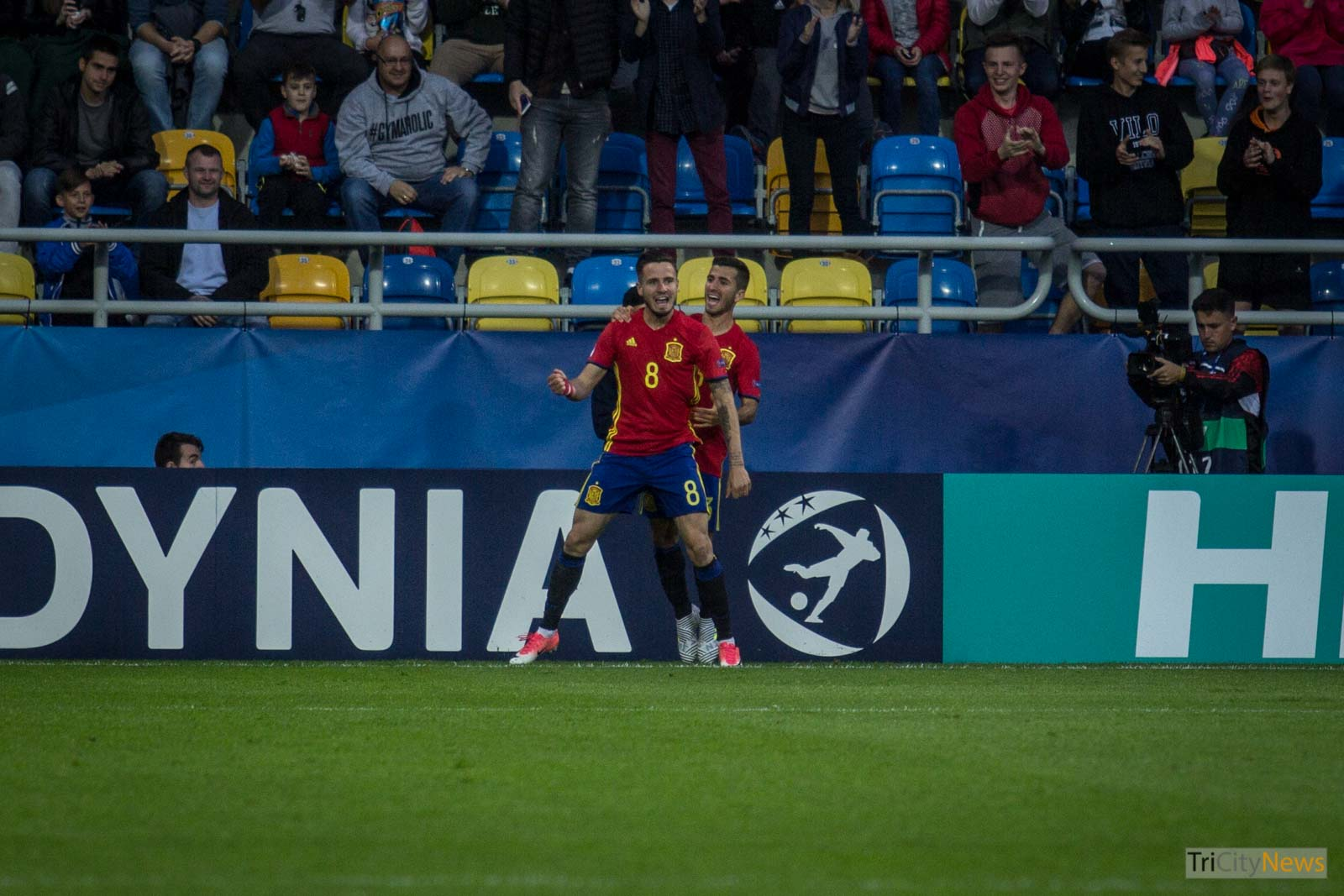 Saul scoring a goal in Gdynia at UEFA U21 European Championship, photo: Jakub Wozniak/Tricity News