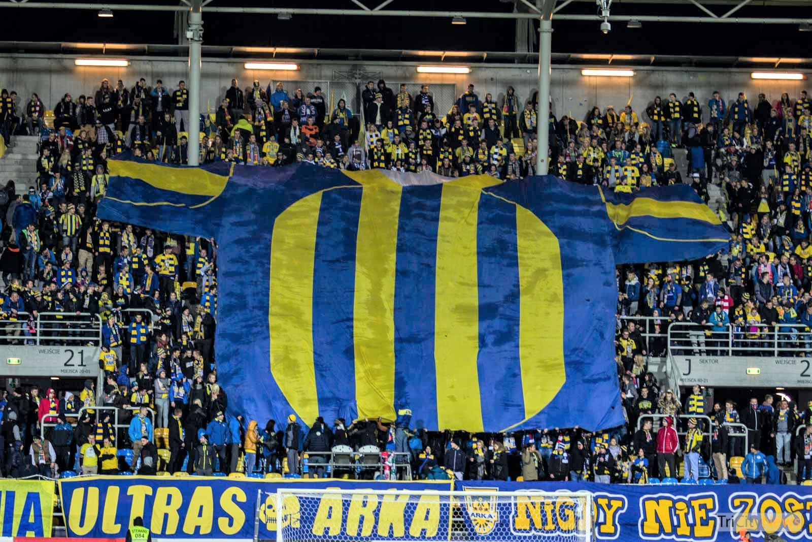 Arka Gdynia fans, Photo: Jakub Wozniak/Tricity News