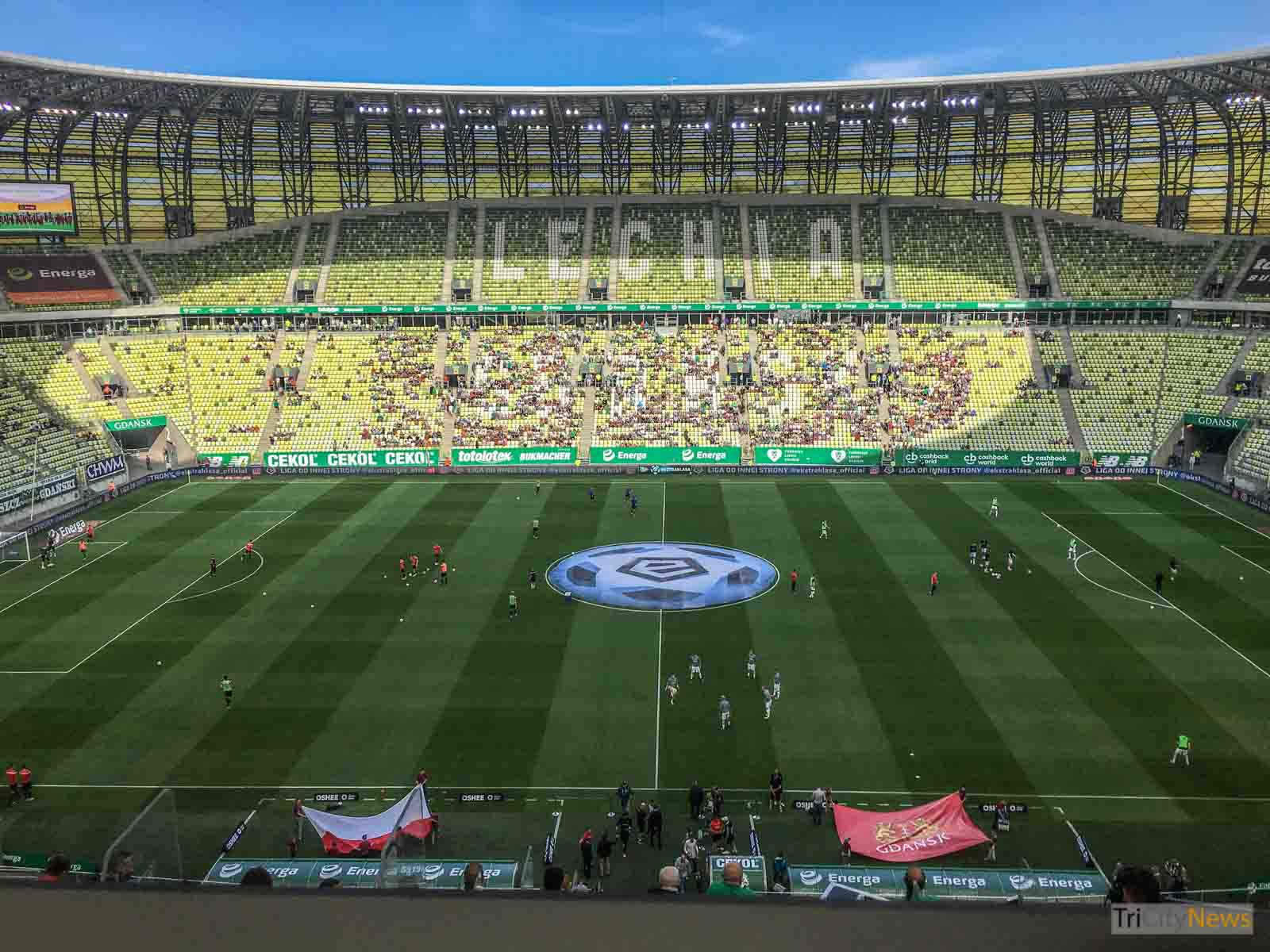 Lechia Gdansk before the game, photo: Mark Cameron/Tricity News