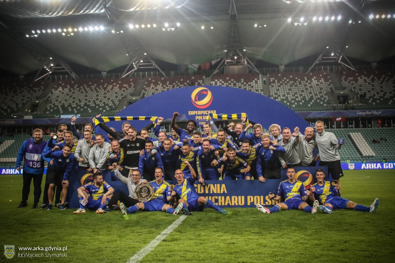 Arka Gdynia winning Polish Super Cup 2018, photo source: www.arka.gdynia.pl, author: Wojciech Szymański