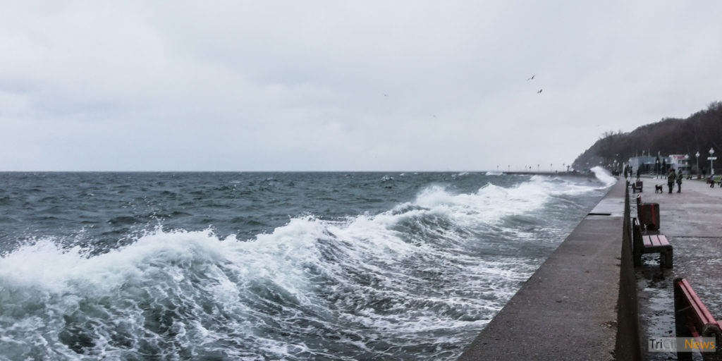 Storm in Gdynia, 02.01.2019, photo: Jakub Wozniak/Tricity News