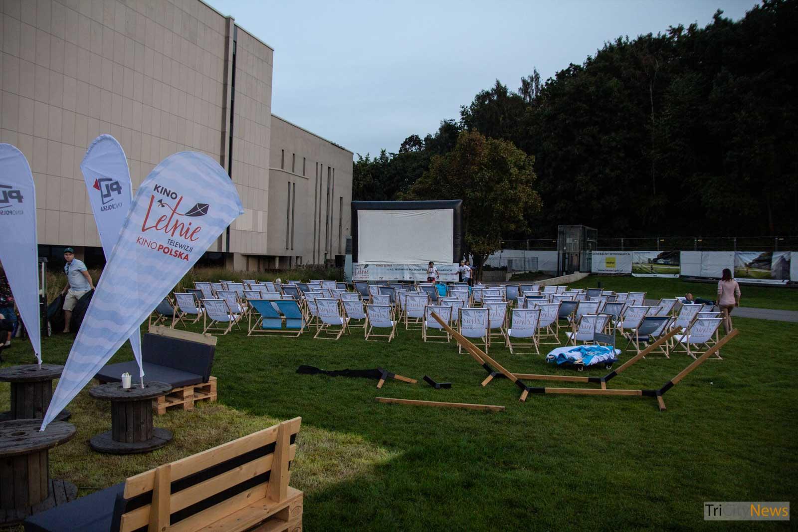 Outdoor cinema at Polish Film Festival in Gdynia, photo: Jakub Woźniak/Tricity New