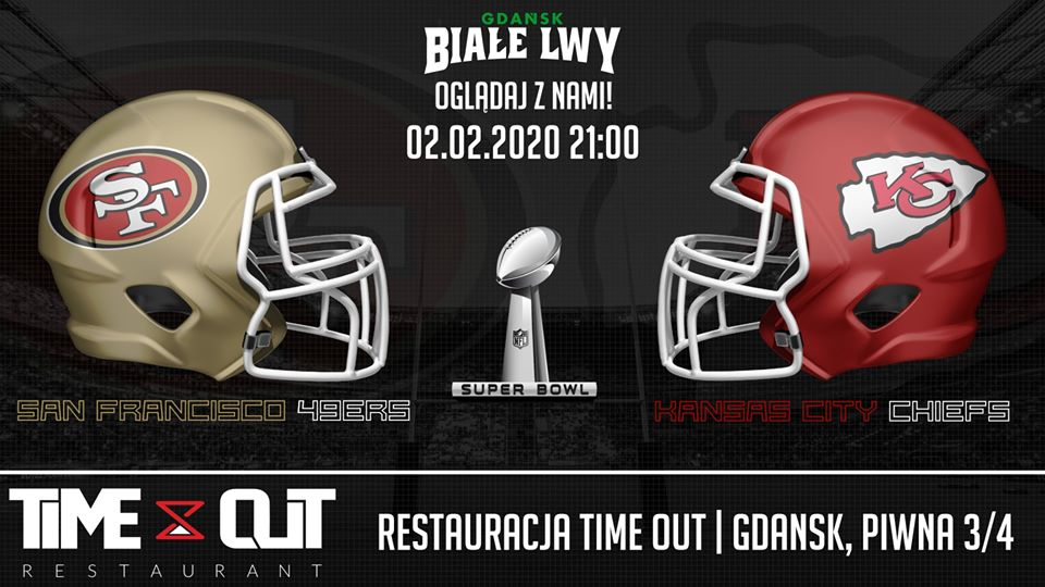 Biale Lwy Super Bowl Party 2020 - graphics source: Biale Lwy Gdansk
